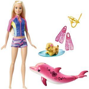 عروسک باربی و دلفین جادویی Mattel