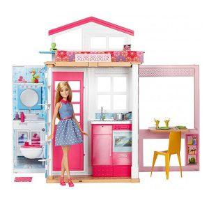 عروسک باربی و خانه کامل مبله Mattel