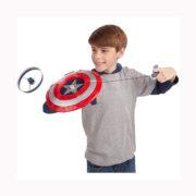 سپر کاپیتان آمریکا با دیسک پرنده