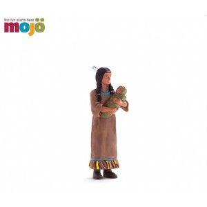 شخصیت های موجو سرخ پوست زن با بچه (زرد)