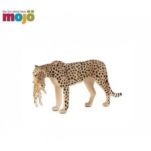 حیوانات موجو یوزپلنگ با بچه (نقره ای)