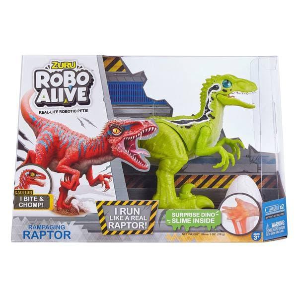 دایناسور Zuru Robo Alive Rapming Raptor سبز